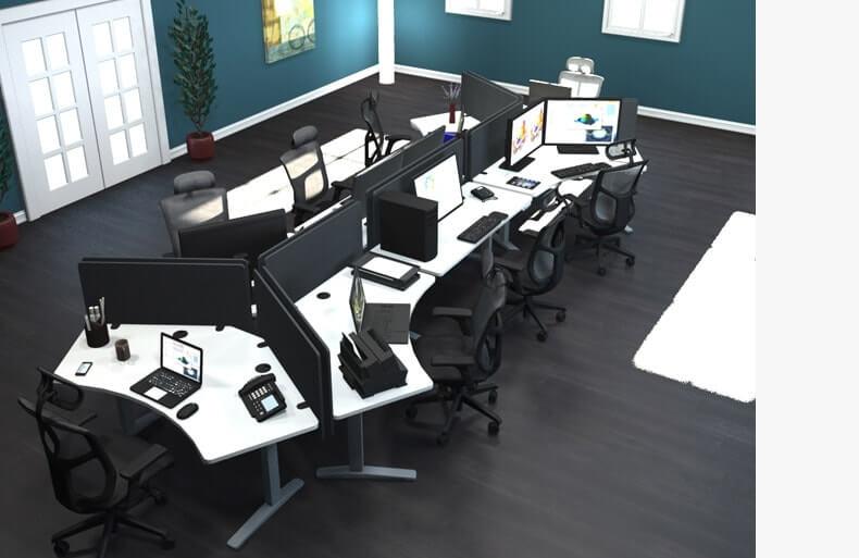 120-degree workstation