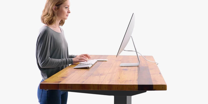 Reclaimed wood standing desk