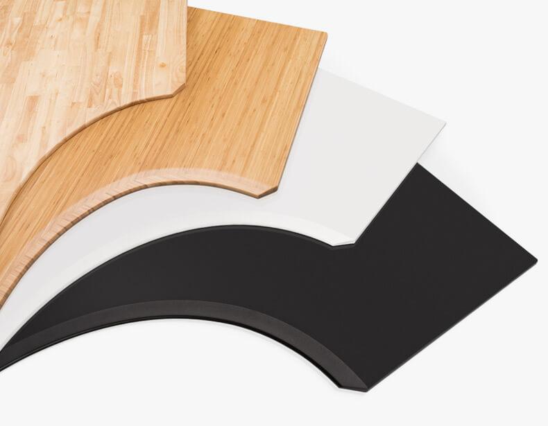Uplift Curved corner L-shape standing desk