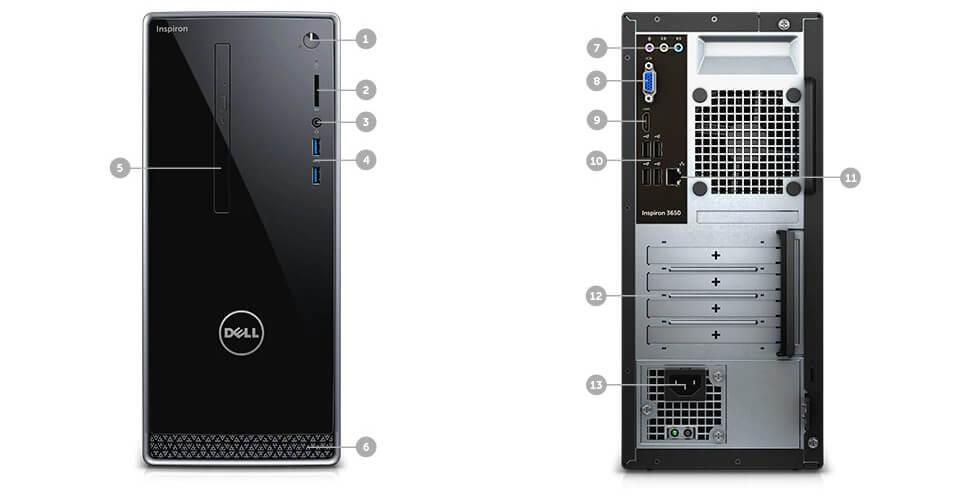 Dell Inspiron 3650 Desktop Connectivity