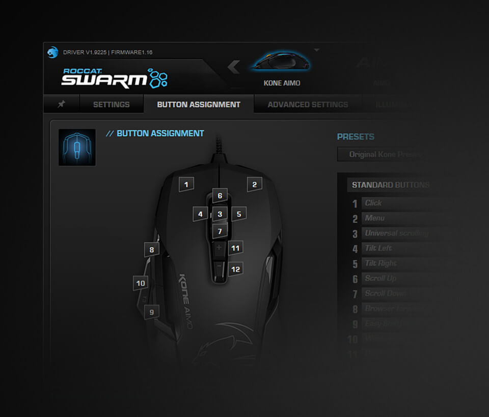 Roccat Kone Aimo - SWARM Software