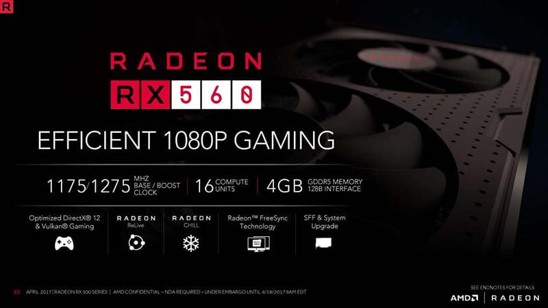 amd radeon rx 560 Specifications 3