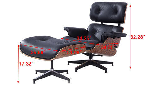 eames chair No Adjustability