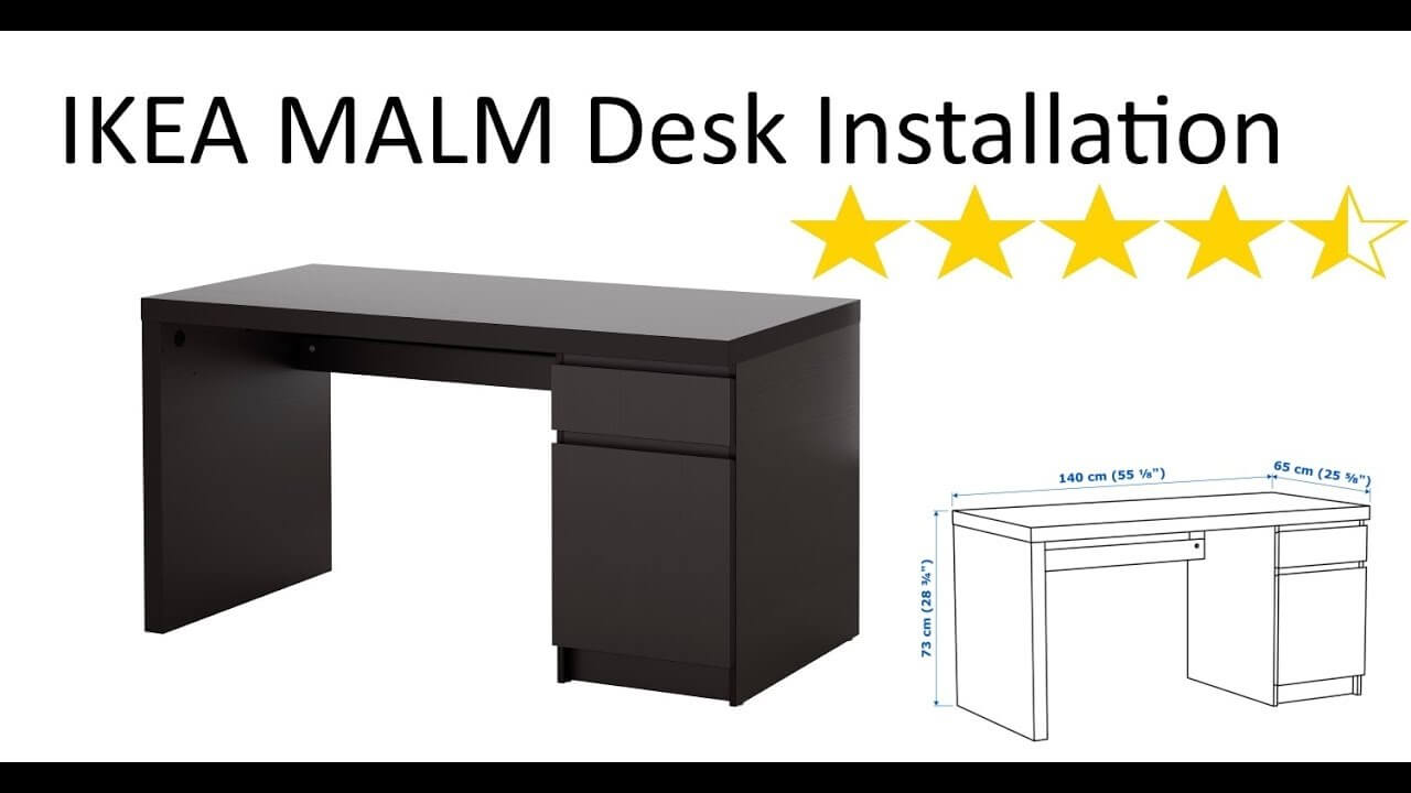 ikea malm desk Added Functionality