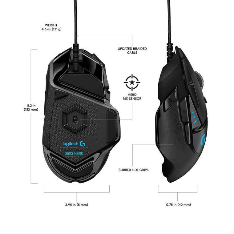logitech g502 Buttons