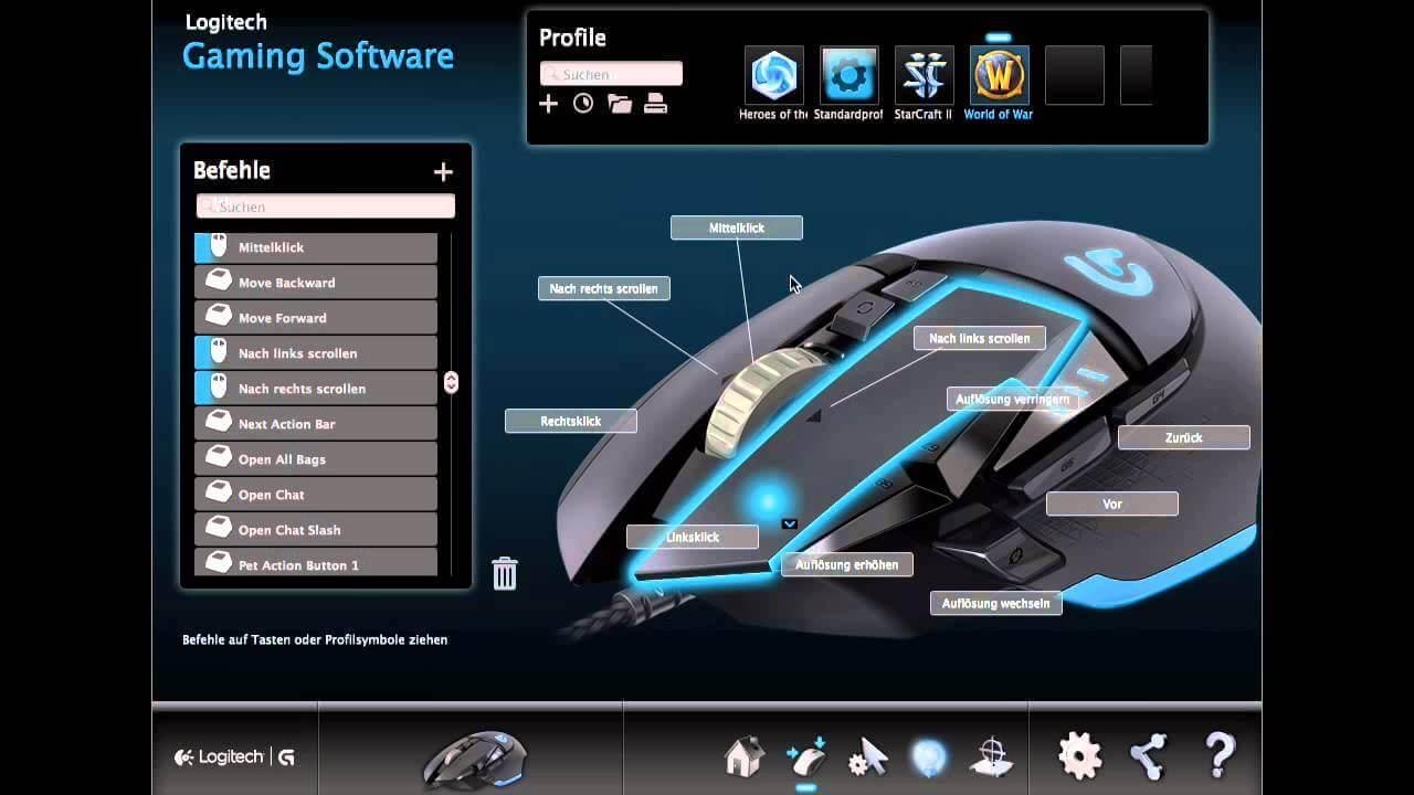 logitech g502 software