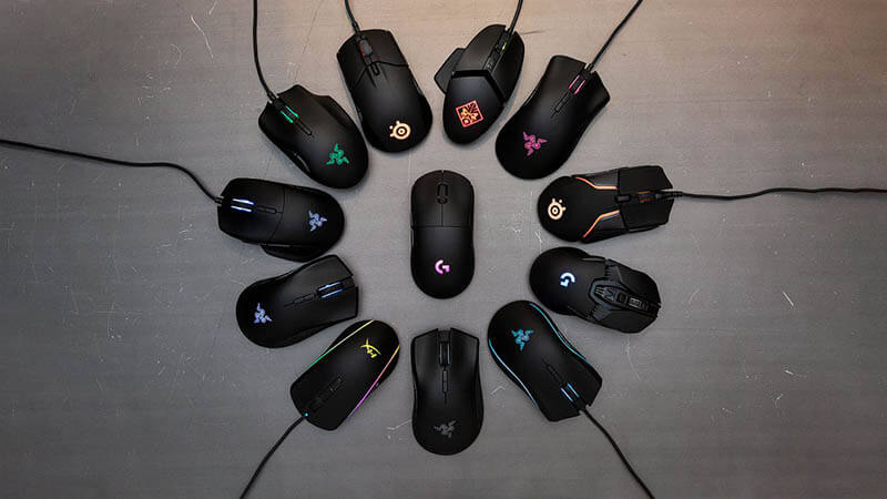 Wired or wireless gaming mouse