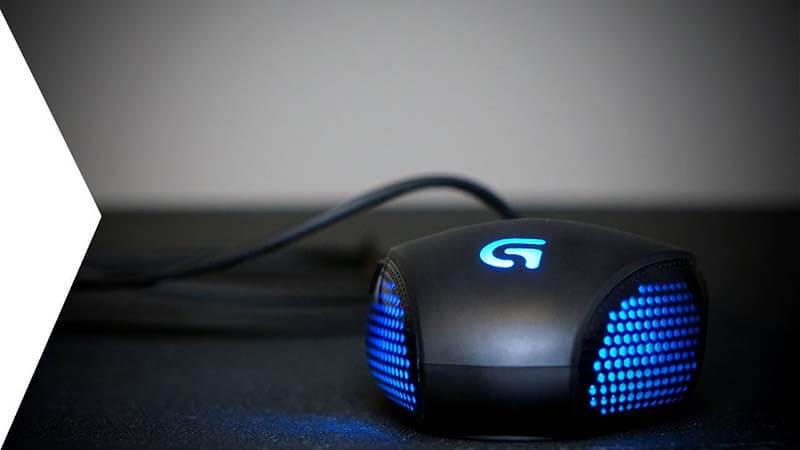 Logitech G302 Review LED lighting